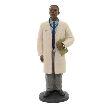 Black Art MALE DOCTOR Polyresin Hospital Medical 27021