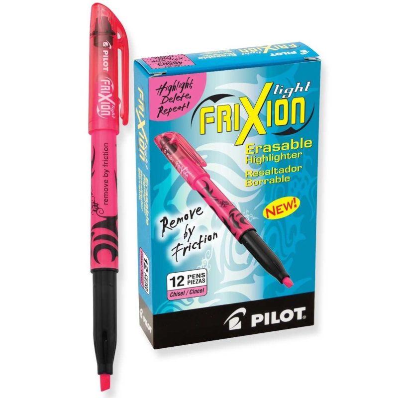 Pilot FriXion Light Erasable Highlighters, Pink, (PIL 46503) - 12/pk
