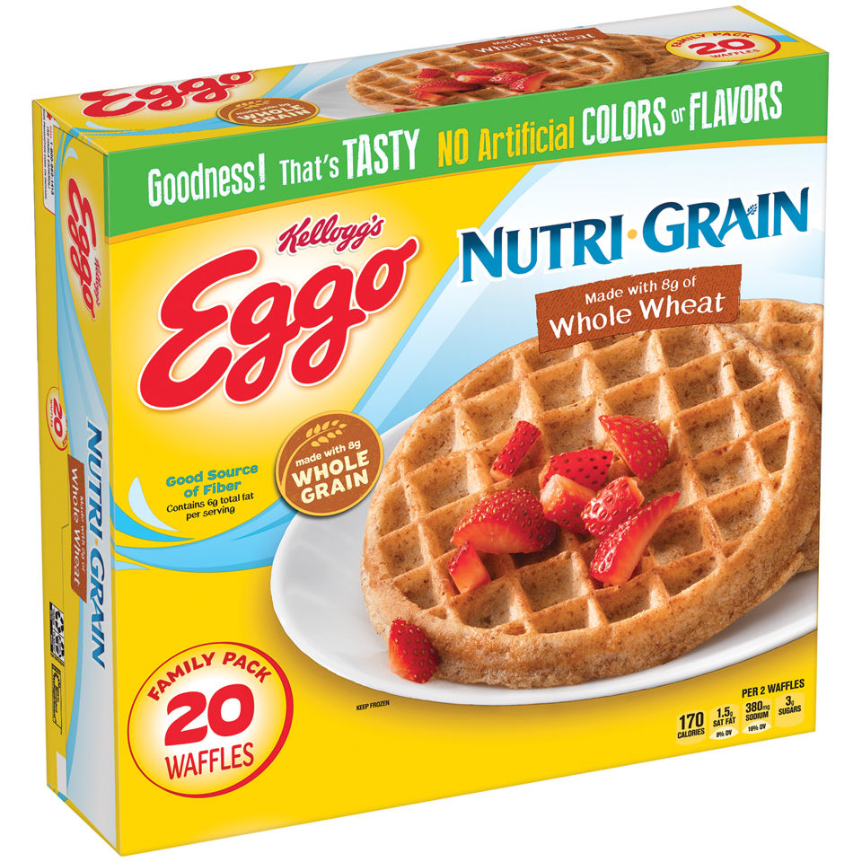 Kellogg's Eggo Nutri-Grain Whole Wheat Waffles, 24.6 OZ