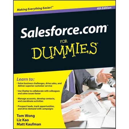 Salesforcecom For Dummies By Tom Wong