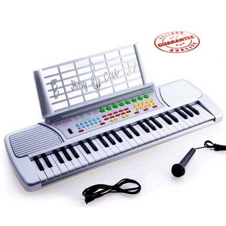 Silver Yamaha Kids Keyboard