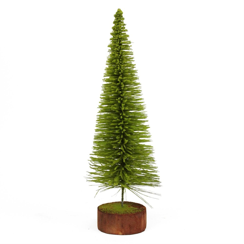 2' Moss Green Pine Artificial Village Christmas Tree Unlit by Vickerman