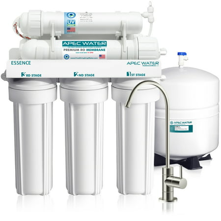 APEC Top Tier UV Sterilizer 75 GPD 6 Stage Ultra Safe Reverse Osmosis Drinking Water Filter System (ESSENCE ROES-UV75)