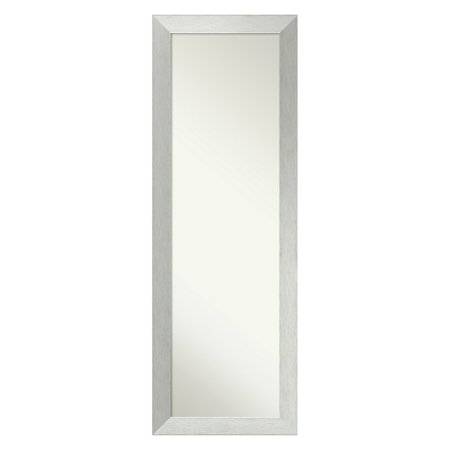 Amanti Art Brushed Sterling Silver On The Door Full Length Wall Mirror - 18W x 52H in. ()