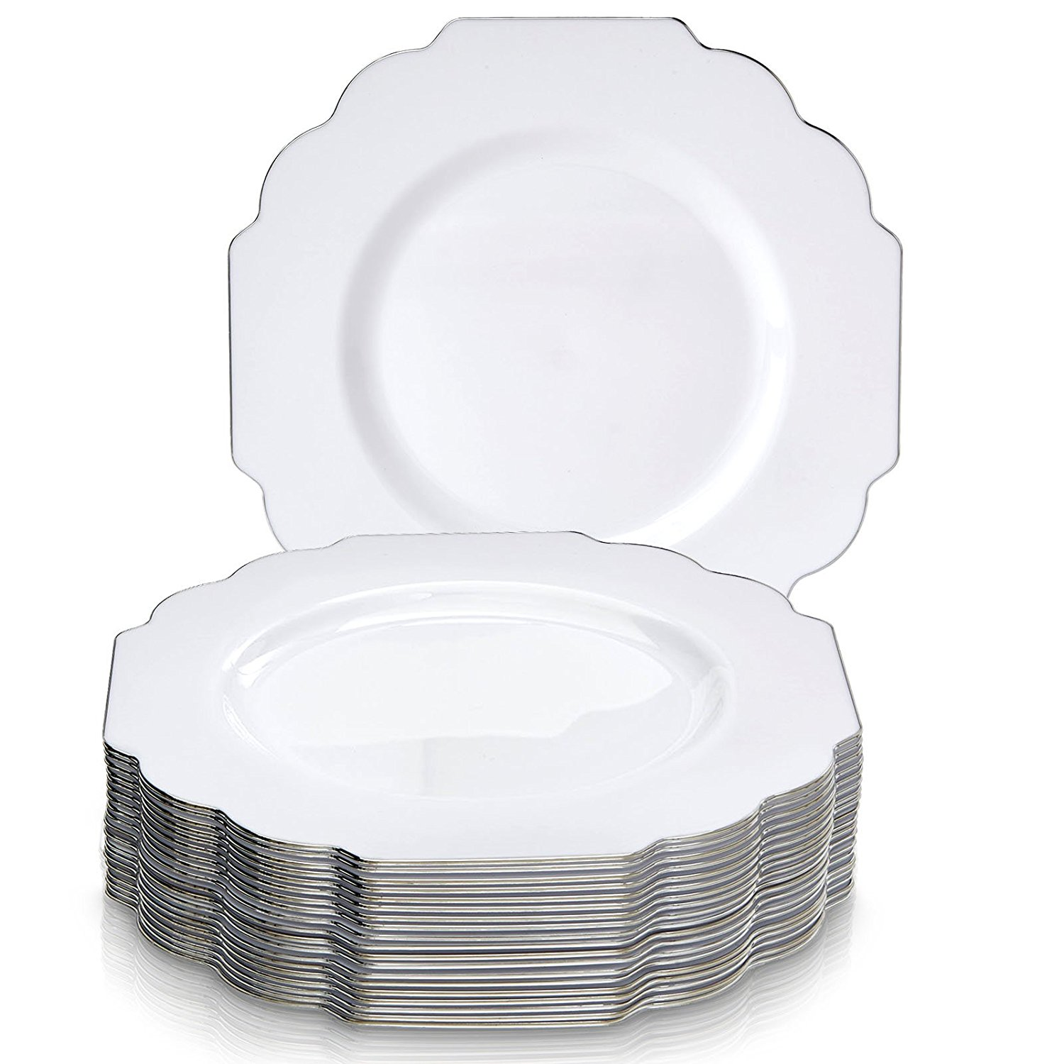 Birthday Party Special Occasion 30 pcs Disposable White Paper Plate Plates 9/'/'