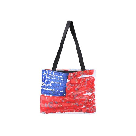 - Manual Woodworkers & Weavers Women's American Flag Tote Bag - Shopping Bag