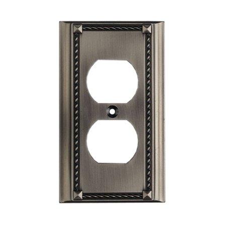 Elk Lighting Clickplates 2 Socket Single Plate in Antique Platinum (Elk Lighting Plate)