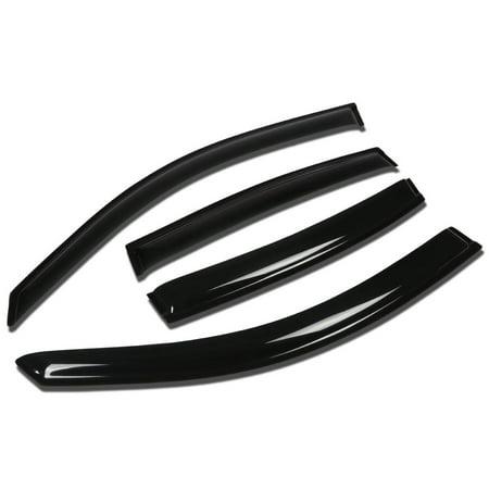 For 00-05 Buick LeSabre 4pcs Window Vent Visor Deflector Rain Guard (Dark Smoke) 01 02 03 04 Buick Lesabre Rear Window