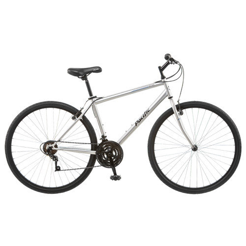 Pacific 700C Men's Bryson Hybrid Bike Bicycle - Silver