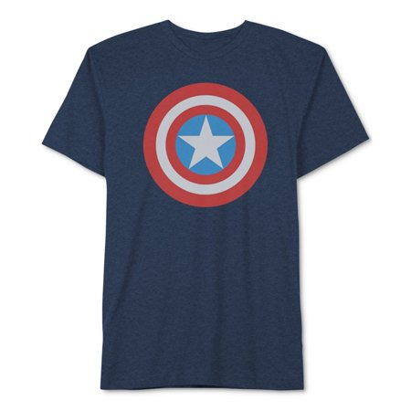 Jem Mens Captain America Graphic T-Shirt navyheather