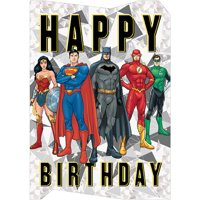Paper House Productions Justice League Die Cut Foil Superhero Birthday Card For Kids