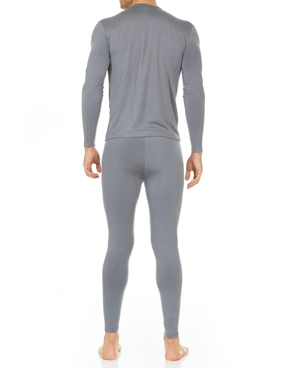 3e404ad81fe0f Thermajohn - Thermajohn Men s Ultra Soft Thermal Underwear Long Johns Sets  with Fleece Lined (Grey
