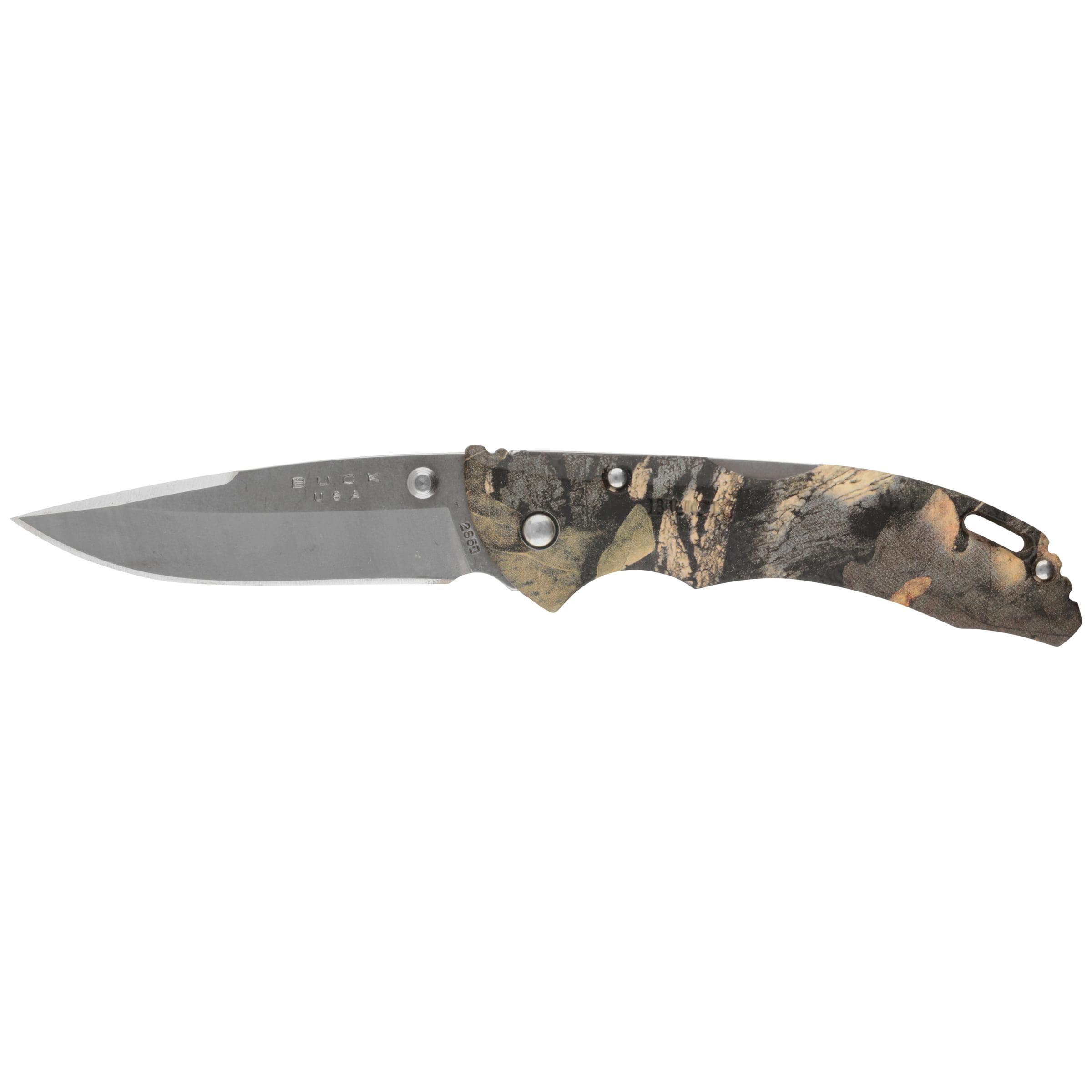 Buck Knives 0285CMS24WM Bantam, Folding Knife with Pocket Clip, Mossy Oak Break-Up Country, Clam