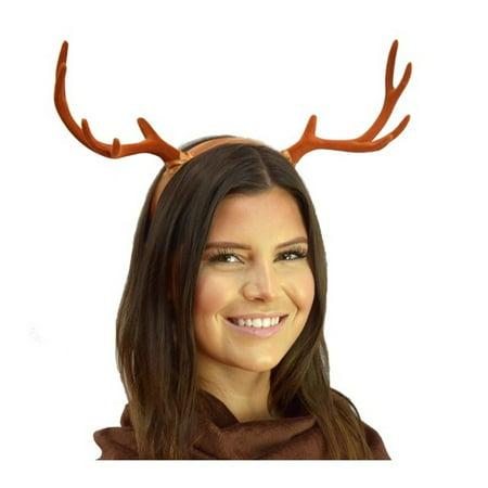 Brown Deer Antlers Headband Gothic