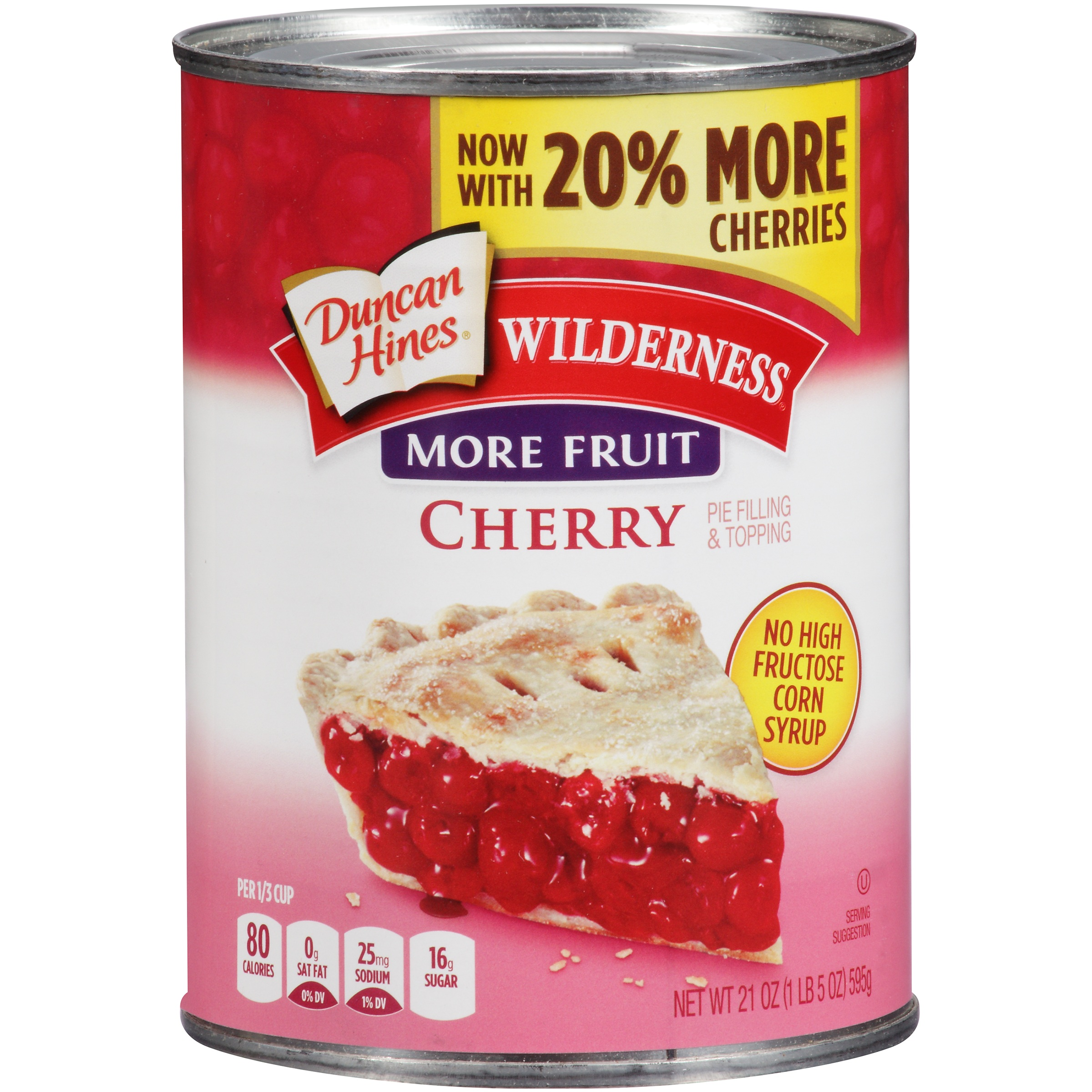 Duncan Hines Wilderness More Fruit Cherry Pie Filling & Topping, 21 oz by Generic