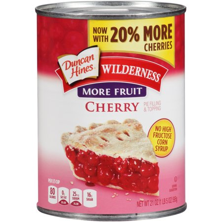Duncan Hines Wilderness More Fruit Cherry Pie Filling & Topping, 21 oz