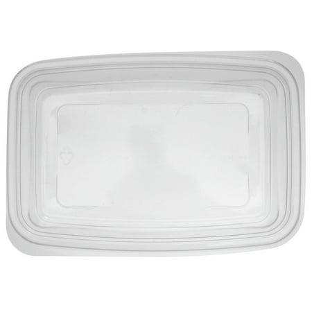 Genpak Smart Set Pro Polypropylene Clear Rectangular Microwave Safe  Container, 24 Ounce - 300 per case
