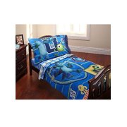 "Monsters University ""University Training"" 4-Piece Toddler Bedding Set - royal blue, one size"
