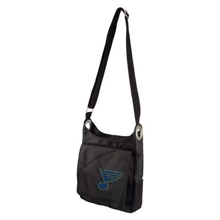 St Louis Blues Sport Noir Sheen Crossbody Bag