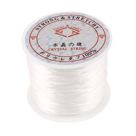 Crystal Elastic Stretchy Beading String Cord Thread Jewelry Craft Line White (White Beading Thread)