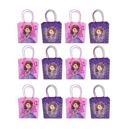 1st Birthday Party Loot Bags - 12 PC Disney Princess Sofia The First Goodie Party Favor Gift Birthday Loot Bags