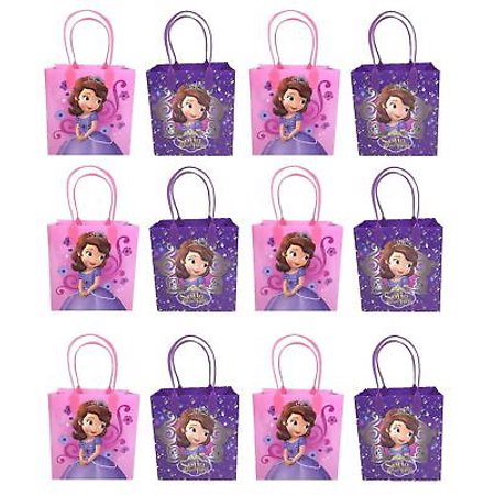 12 PC Disney Princess Sofia The First Goodie Party Favor Gift Birthday Loot Bags - Princess Sofia Goodie Bags