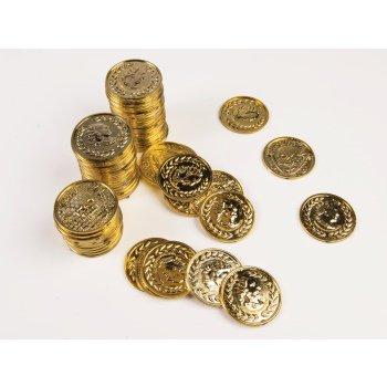 PIRATE GOLD COIN SET-72PCS - Halloween Coin Dozer