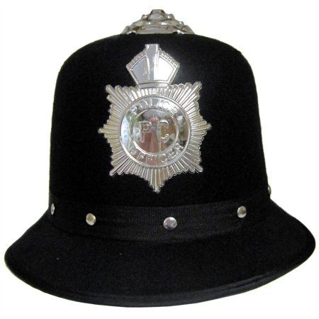 Black Felt English Bobby Hat (English Bobby)