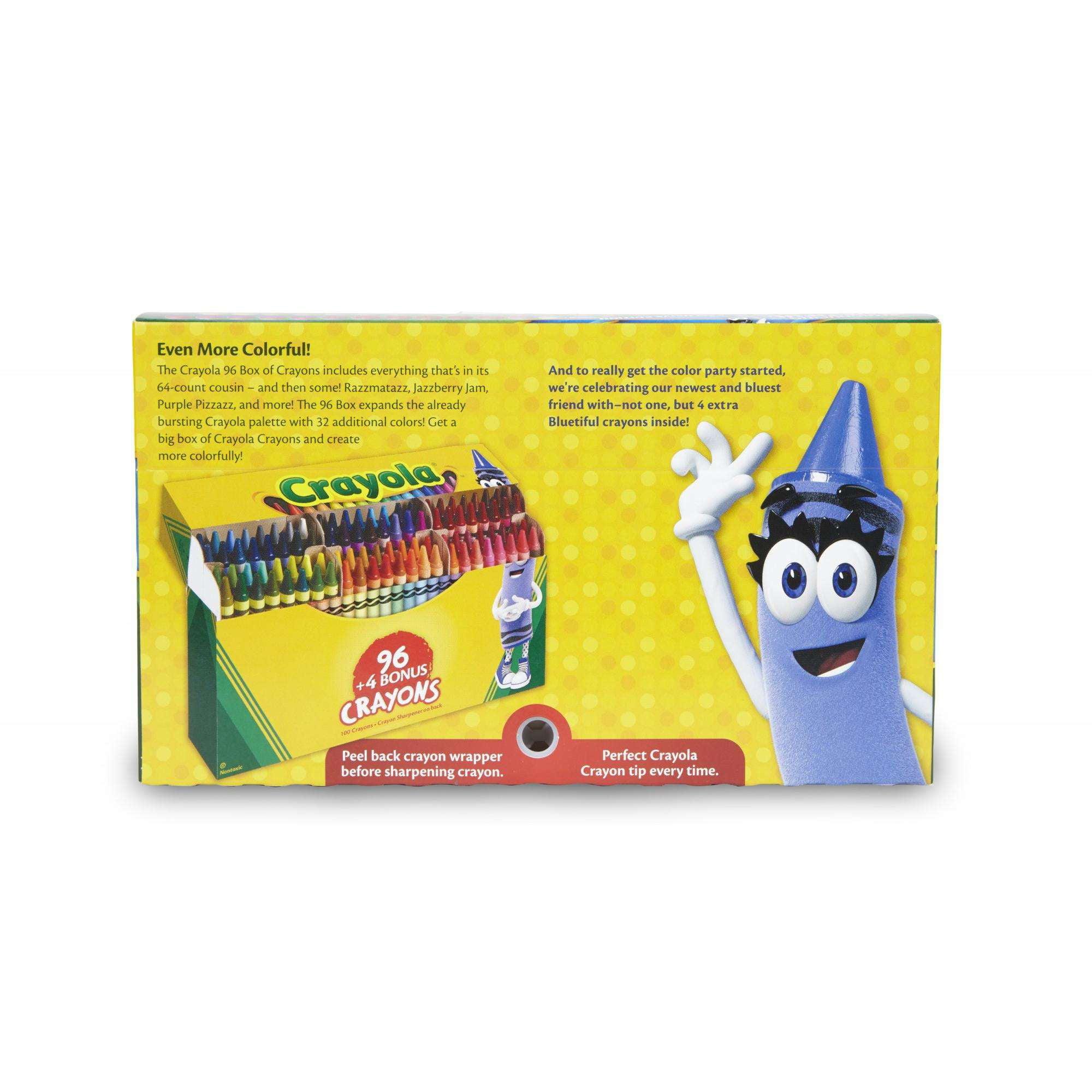 new bluetiful crayola color 100 ct crayon box walmart com
