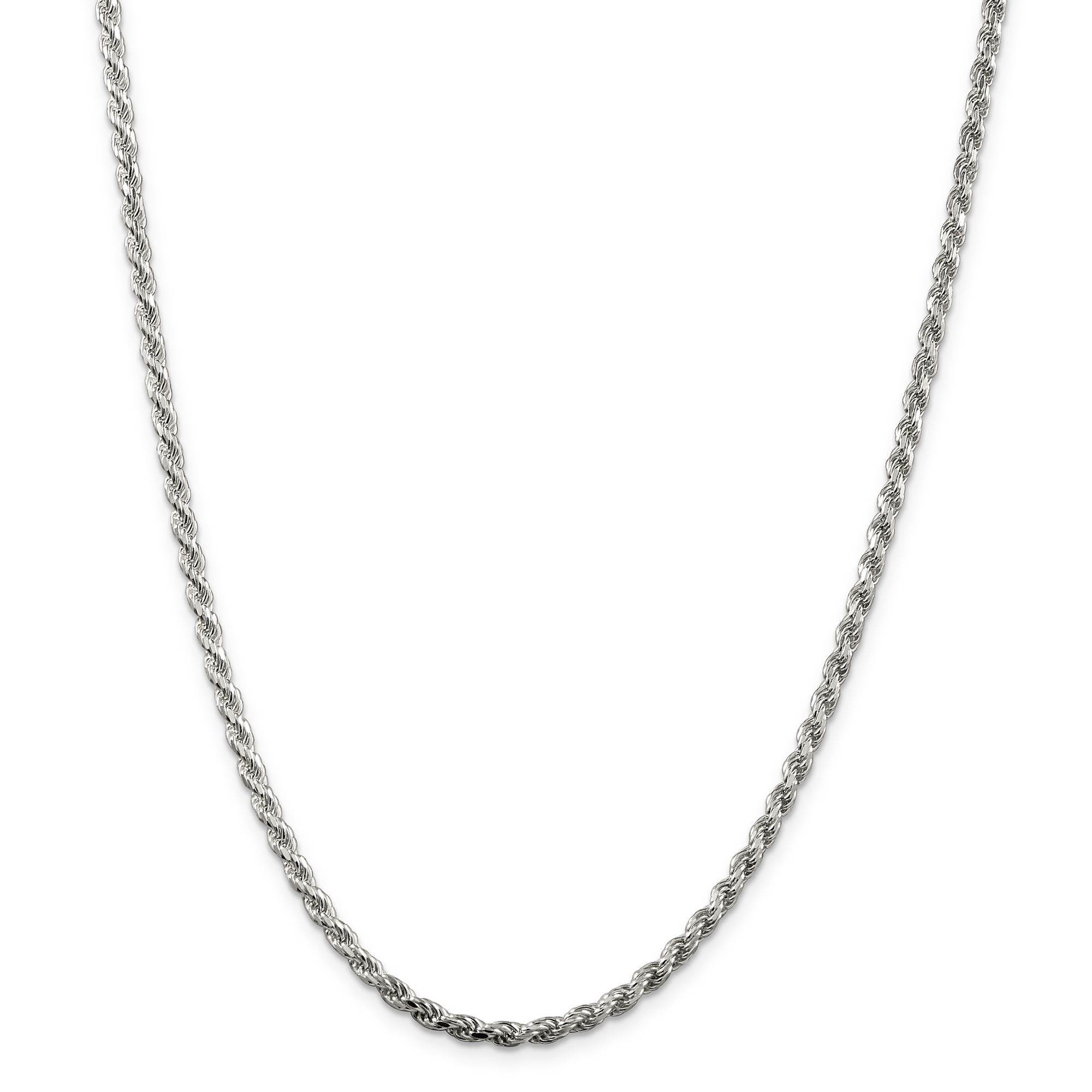 925 Sterling Silver 3mm Diamond-cut Rope Chain 16 Inch - image 5 of 5