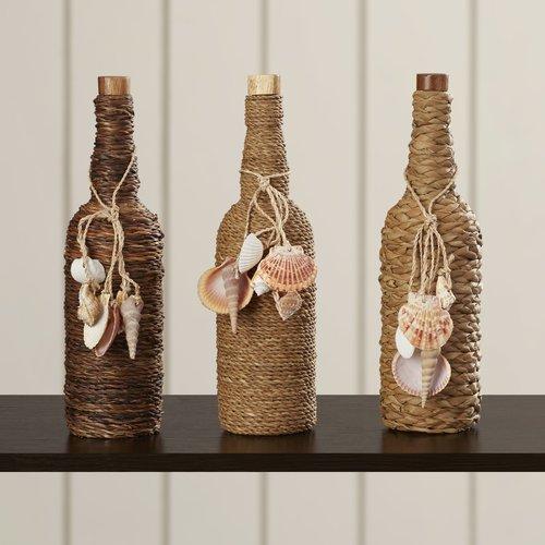 Bay Isle Home 3 Piece Glass Stopper Decorative Bottle Set by