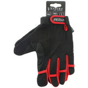 Ventura Red Full Finger Touch Gloves in Size XL