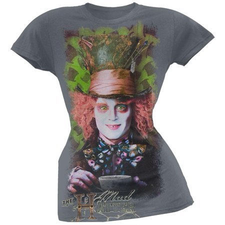 Alice In Wonderland - Mad Hatter Tea Juniors T-Shirt](Alice In Wonderland The Mad Hatter)