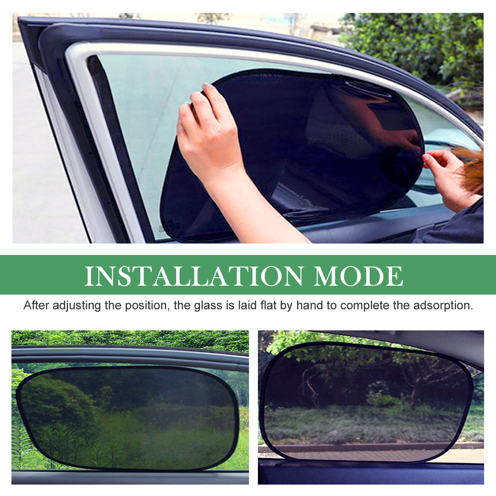 1 Set Kids Pet from Sun- Blockover 98/% UV Rays - Fit Most Cars -Easy /& Flexible to Use Car Sun Shades for Side and Rear Window to Protect Your Baby Black PVC Children 2 pieces