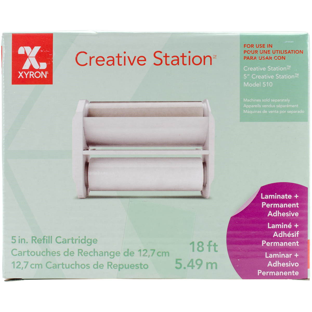 "Xyron Creative Station Laminate/Adhesive Cartridge 5""X18'-"