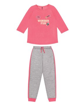 5d176ee9c4a55 Product Image Girls Wonder Fun 2 Piece Pajama Sleep Set (Little Girl & Big  Girl)