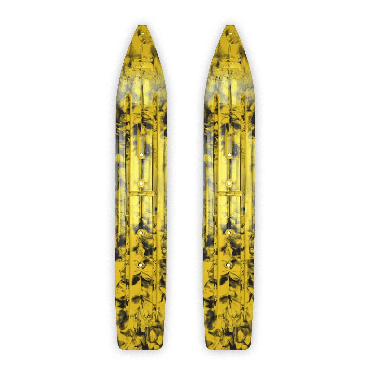 """SLYDOG SKIS 7 1 4"""" Hell Hound Ski, Pair Black, Yellow #310056 by SLYDOG SKIS"""