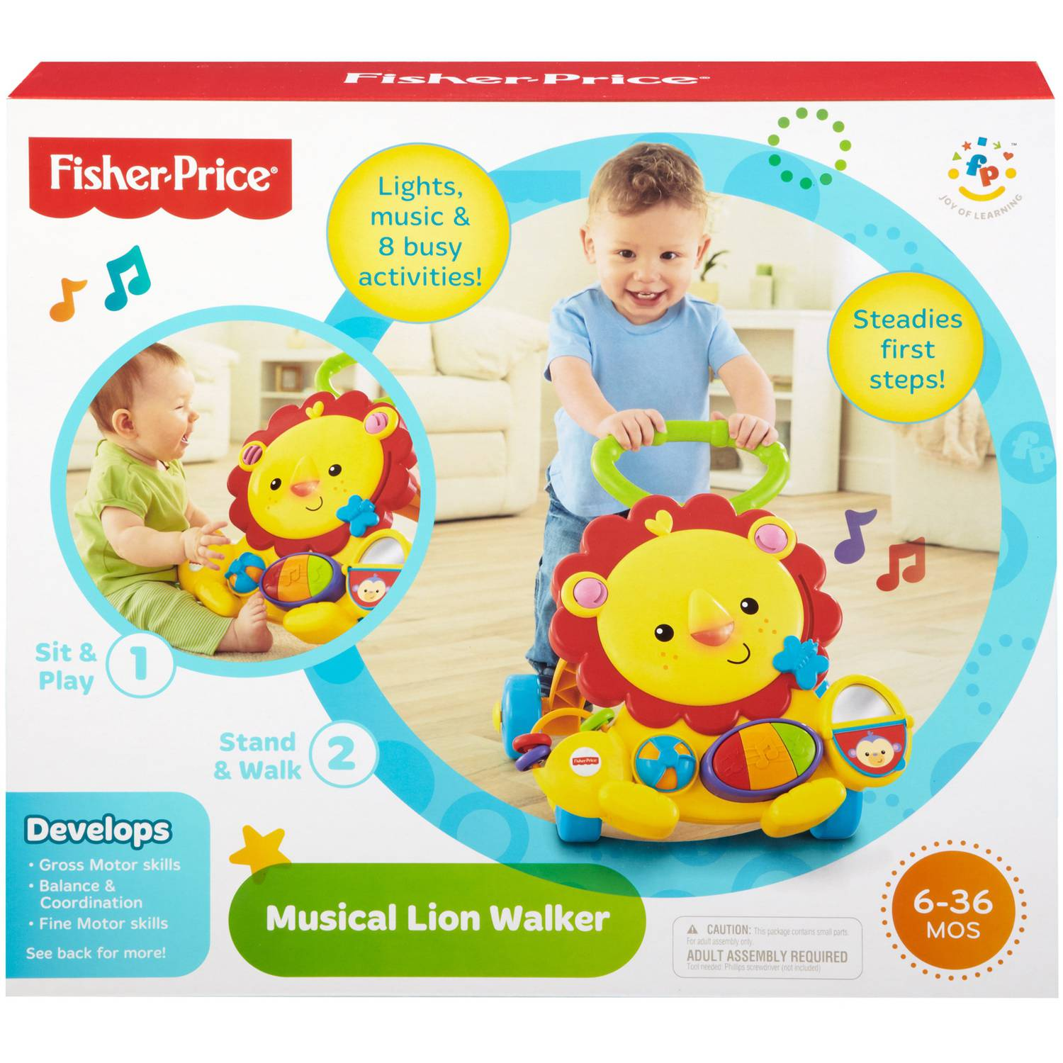 Fisher Price Musical Lion Baby Walker Walmart