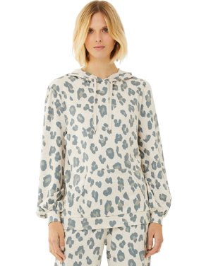 Scoop Women's Leopard Print French Terry Hoodie