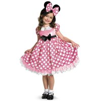 Mickey Mouse Clubhouse: Pink Minnie Glow In The Dark Dot Dress Child
