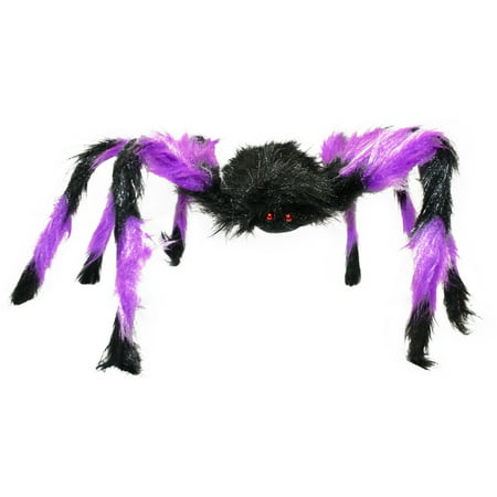 Halloween Large Hairy Spider! Purple - Green - Orange! 24