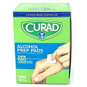 100 Curad Sterile Alcohol Prep Pads Individually Sealed 100 Pads THICK PAD