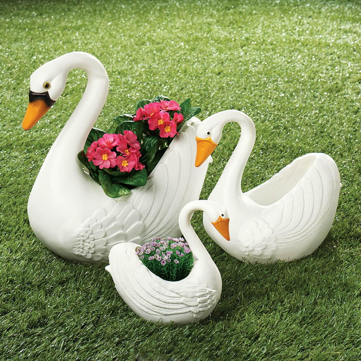 Swan Family Indoor Outdoor Planters Set Of 3 Walmart Com