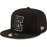 LA Clippers New Era Black & White Logo 59FIFTY Fitted Hat - Black