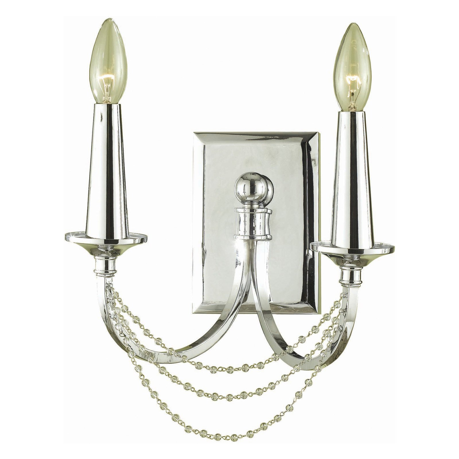 AF Lighting 7703 Two-Light Wall Sconce in Chrome