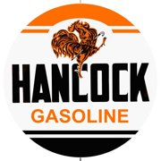 "Hancock Gasoline 14"" Round Metal Sign R140019"