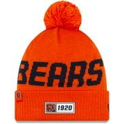 Chicago Bears New Era 2019 Road NFL Sideline Reverse Head Sport Knit Hat - Orange - OSFA