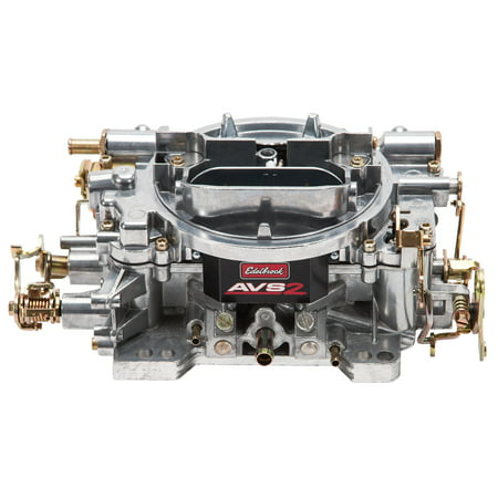 Edelbrock 1905 AVS2 Series Carburetor; 650 cfm; Square Flange; Non-EGR; Manual Choke; Satin;