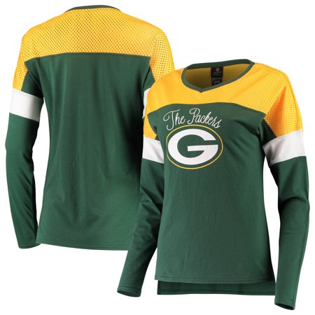 Green Bay Packers Juniors Team Blocker Color Block T-Shirt -