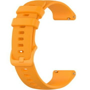 Wristology Quick Release Easy Change Replacement Soft Silicone Rubber Watch Band Strap for Men Women 18mm (Orange)